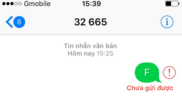 iphone không nhắn tin được