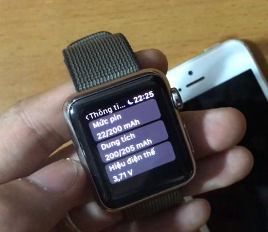 hướng dẫn kiểm tra pin apple watch
